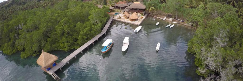 drone view ceningan resort